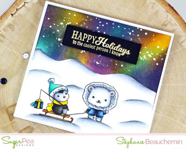 Project: Northern Light Polar Scene Card
