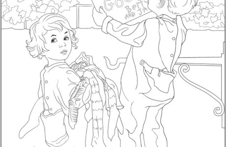 Download: Vintage Christmas Coloring Page