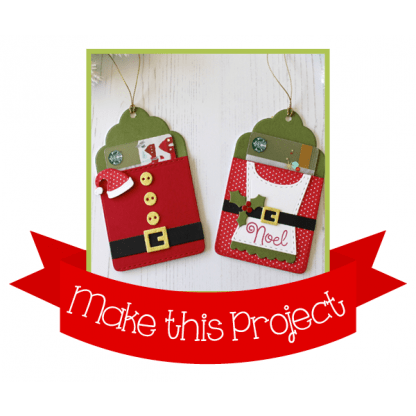 Project: Mr. and Mrs. Claus Gift Card Holders