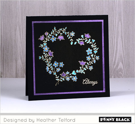 Project: Bold Color on Black Valentine Card