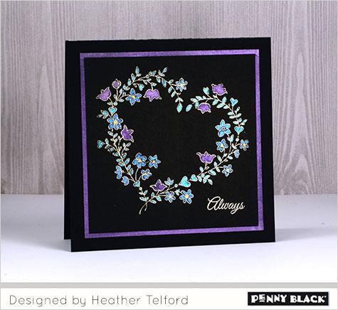 Project: Bold Color on Black Valentine Card