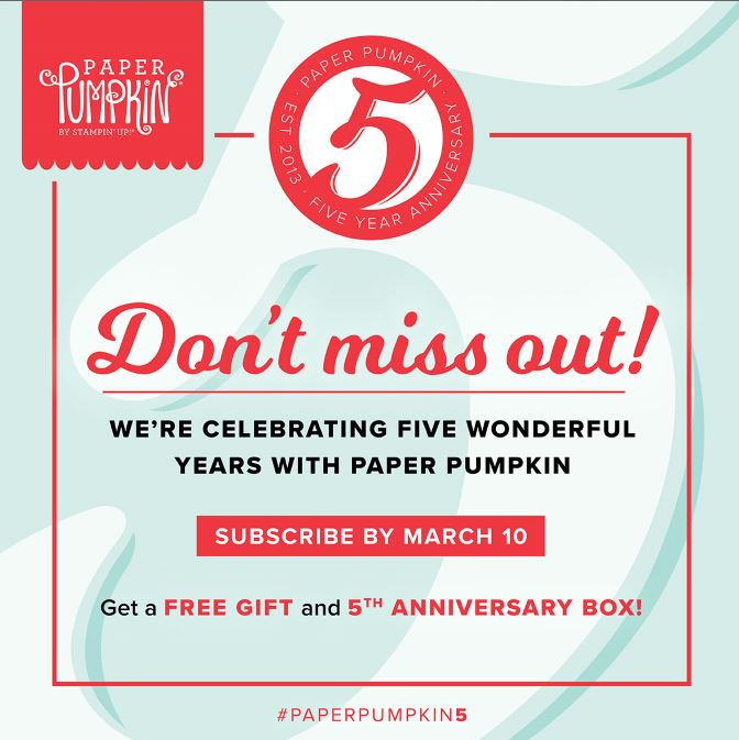 Paper Pumpkin Monthly Kit Special!