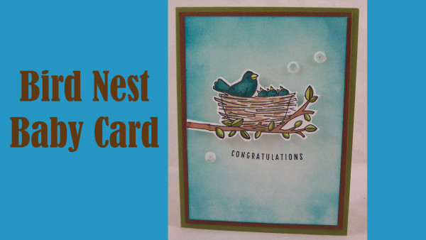 Project: Bird Nest Baby Card