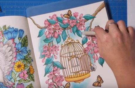 Tip: Using Pastels on Coloring Pages