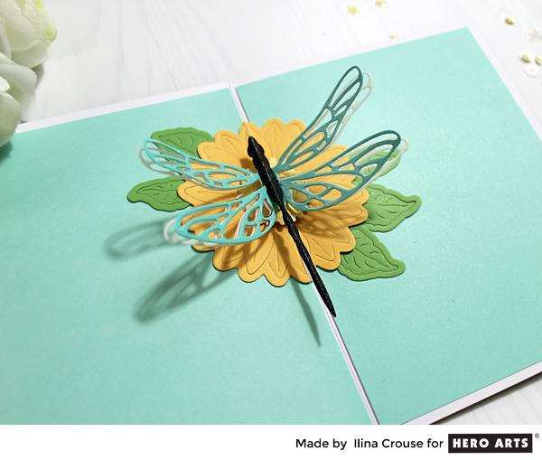 Project: Dragonfly Pop Up Card