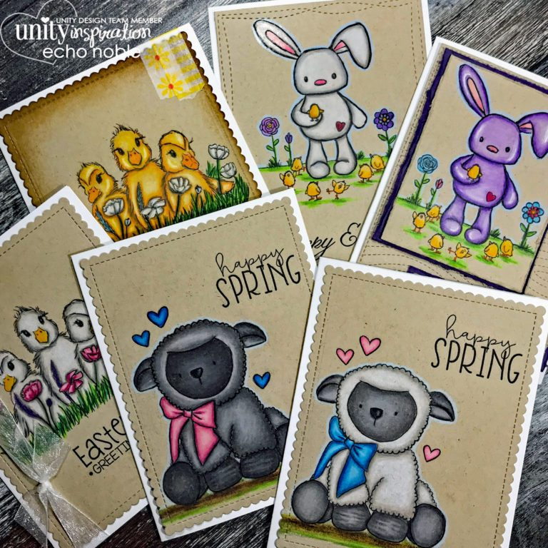 Technique: Easter Cards with Colored Pencils on Kraft Paper
