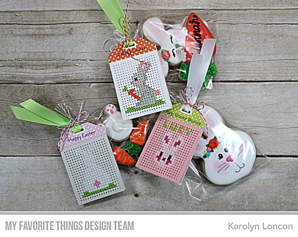 Inspiration and Freebies: Cross Stitched Easter Tag Patterns