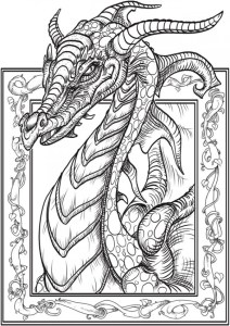 Download: Dragon Coloring Page