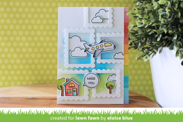 Miss You Card with Frame Die Cuts