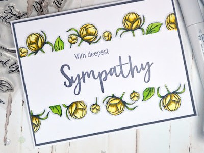 Tip: Floral Sympathy Card with Masking Technique