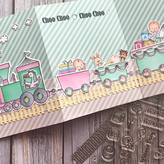 Project: Tri-Fold Baby Card