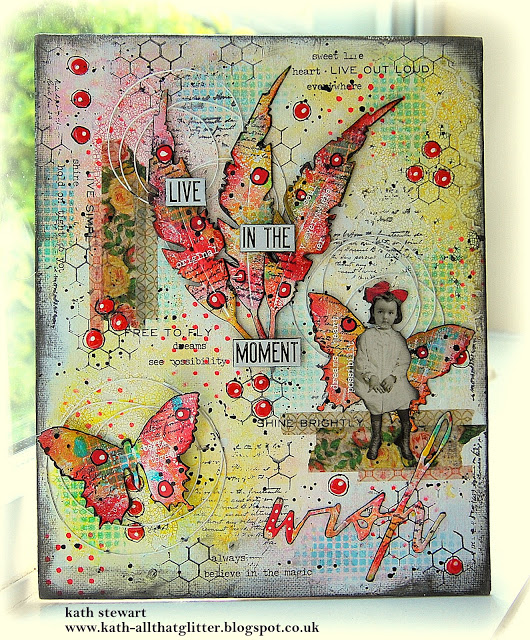 Mixed Media Fairy Canvas