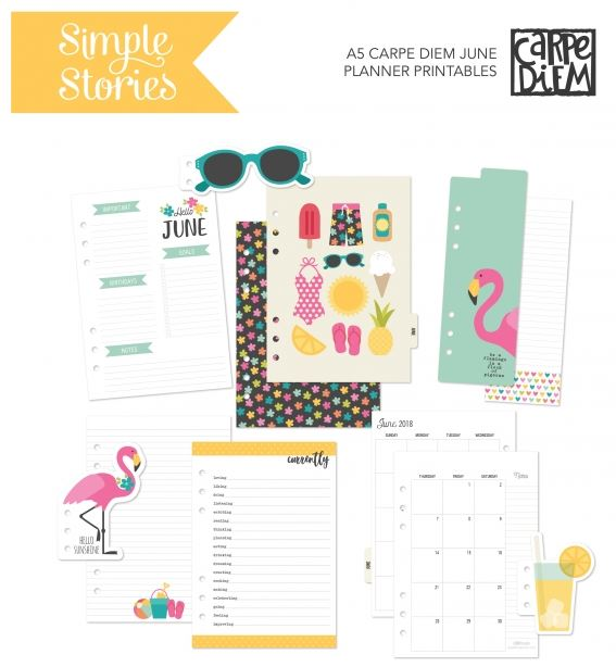 June Printables for Planners and Paper Crafts
