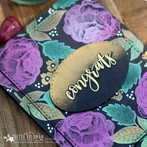 Using Mica Powders and Stamps on Dark Cardstock
