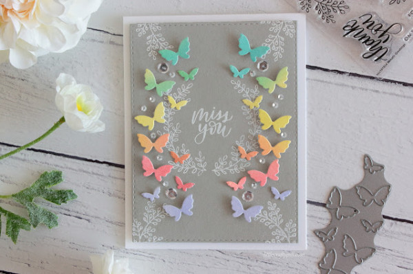Rainbow Butterflies Card