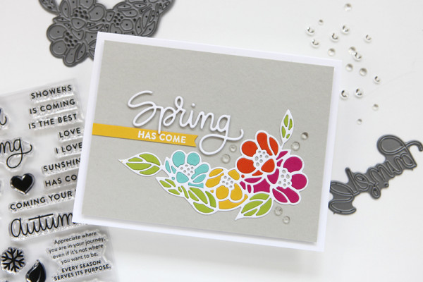 Inlaid Die Cutting Technique for a Spring Floral Card