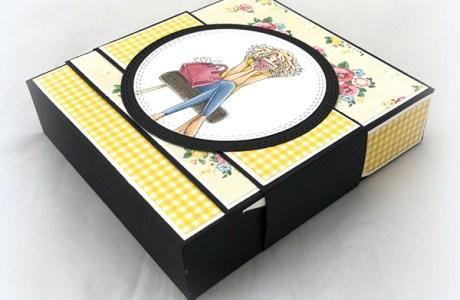Make a Coffee Themed Flip Top Box