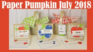 Giveaway and Review: Paper Pumpkin Kit for July 2018