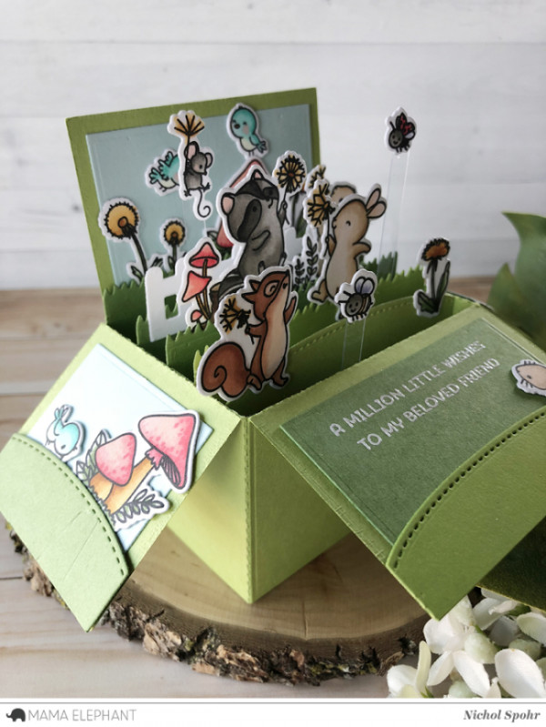 3D Pop Up Box of Cute Critters