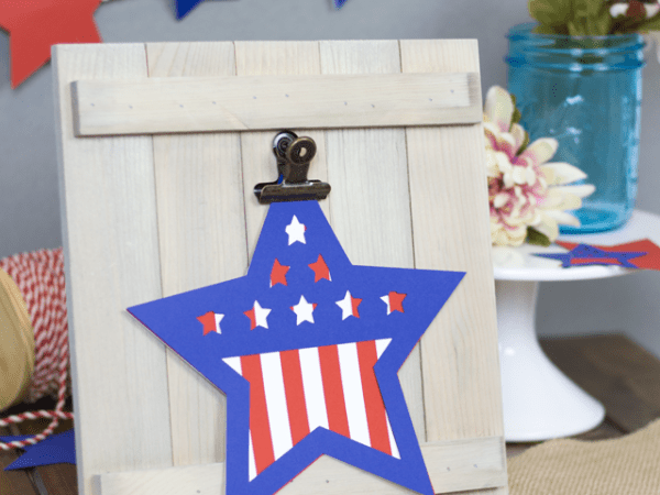 Happy 4th Star Die Cut