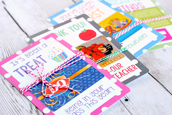 Printable- Teacher Gift Card Holders