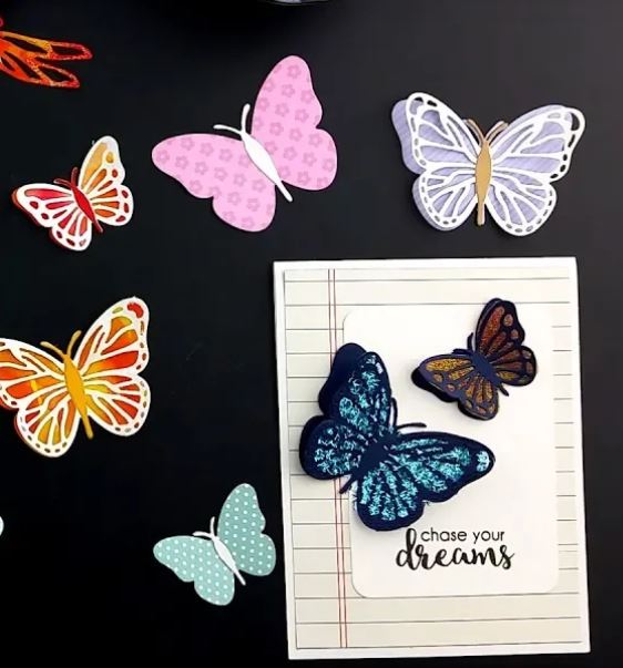 Butterfly Embellishments with Alcohol Inks