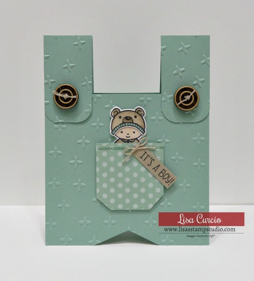 Shaped Baby Card
