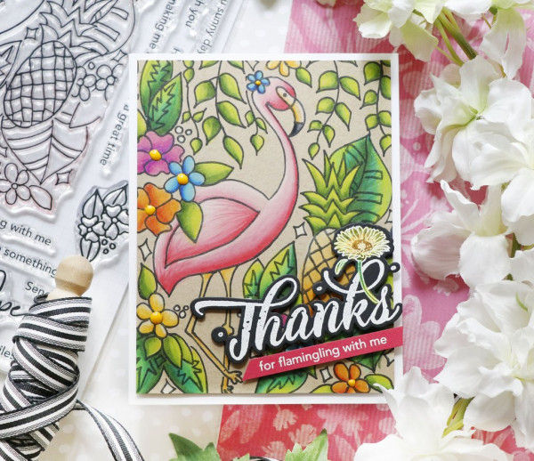 Trendy Flamingo Card