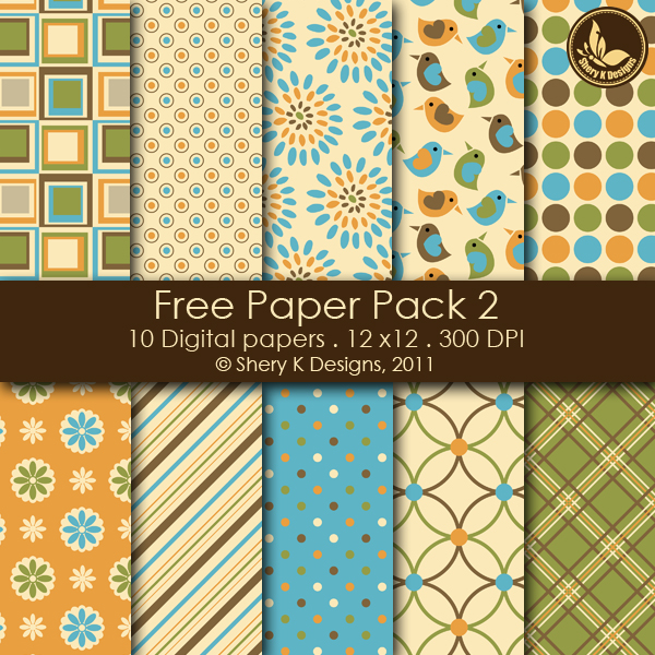 10 Fall Digital Pattern Papers