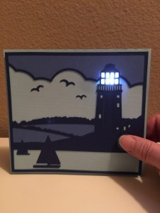 Light Up Lighthouse Card