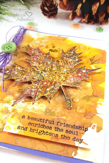 Fall Card with Mottled Foil Background