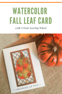 Watercolor Die Cut Fall Leaf Card