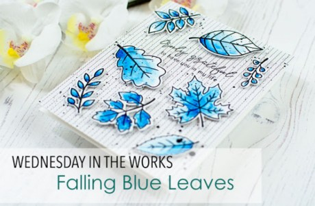 Blue Fall Leaves Card