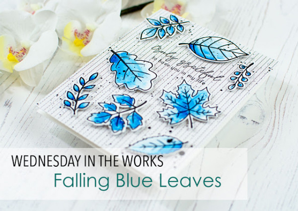 Blue Fall Leaves Card