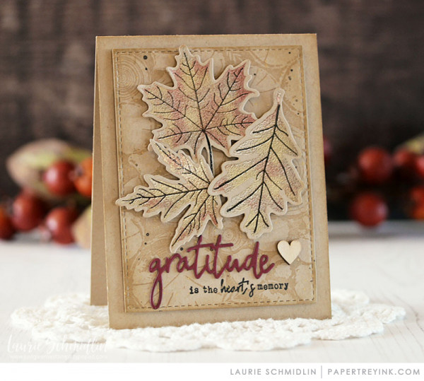 Gilded Leaves Card