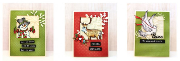 3 Christmas Cards with 1 Layout