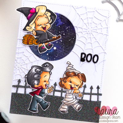 Trick or Treat Scene Card