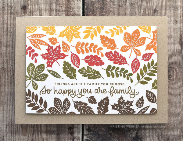 Fall Leaves Card with Distress Oxide Inks