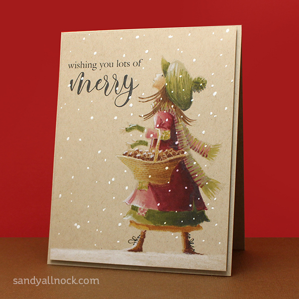 No-Line Stamping Christmas Card