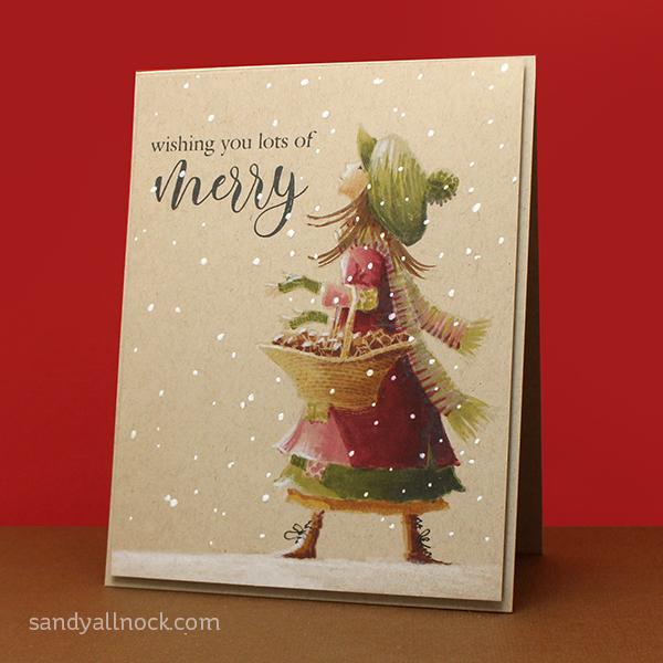 No-Line Stamping Christmas Card