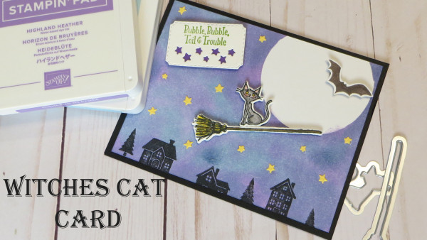 Witches Cat Halloween Card