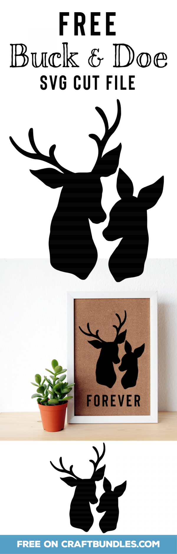 Buck and Doe Deer Die Cuts