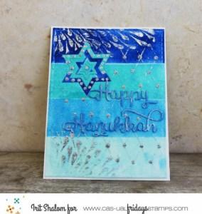 Mixed Media Hanukkah Card