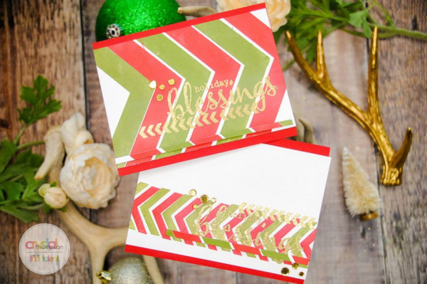 Chevron Pattern Christmas Cards