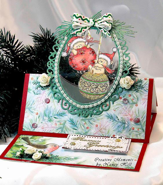 Teddy Bear Christmas Easel Card