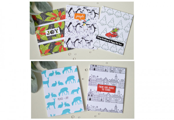 5 Christmas Cards with Similar Layouts
