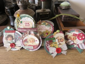 Christmas Artist Trading Coins