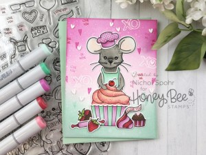Valentine Mouse Baking Card