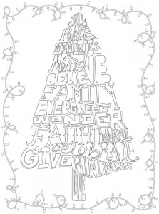 Five Whimsical Christmas Coloring Pages