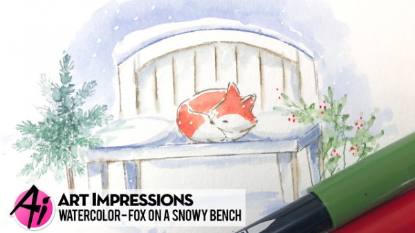 Snowy Fox Card